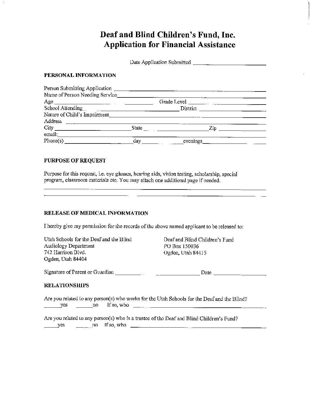 DBCF Application (English)